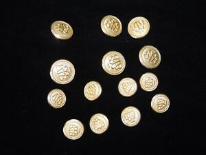 """12 pieces 5//8/"""" Black and Antiqued Silver Embossed Two Hole Flat Back Buttons"""