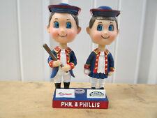 VINTAGE MLB PHILADELPHIA PHILLIES PHIL AND PHILLIS BOBBLEHEAD SGA 2003 TASTYKAKE