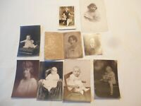 9 Antique 1900's Cabinet Photographs Family Black & White