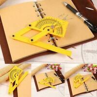 Goniometer Finder Miter Gauge Arm Measure Ruler Plastic Protractor ABS Plastic