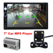 7 Inch 2 DIN Car Stereo Radio HD MP5 FM Player Touch Screen +Free Rear Camera
