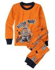 Gymboree Infant Baby Boy 6-12 months Orange Robot Gymmies Pajamas Sleepwear NEW