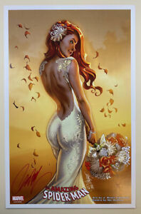 """J SCOTT CAMPBELL signed AMAZING SPIDER-MAN RENEW YOUR VOWS 1 11"""" X 17"""" ART PRINT"""