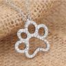 Schmuck Halskette Herz mit Pfotenabdruck Hund Katze Anhänger Tatze Liebe Herz