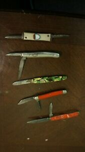 LOT OF POCKET KNIVES-IROQUOIS CA IMPERIAL KINGSTON OHIO SOUVENIER-5 IN LOT