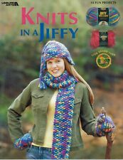 Knits In A Jiffy 14 Fun Projects Leisure Arts Knitting Instruction BOOK