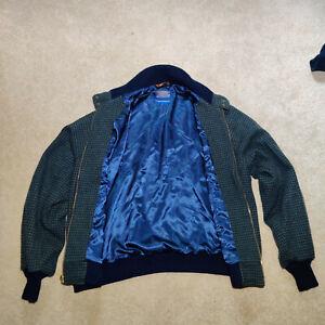 PENDLETON Wool Bomber Jacket Coat Genuine Authentic Size M Medium Blue UK