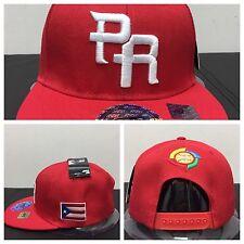 "Puerto Rico Snap Back Hat ""WBC"" RED&ED"