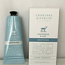 Crabtree & Evelyn Goatmilk & Oat Soothing Hand Therapy 3.45 oz /100 ml Tube