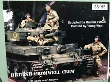 1:35 British Cromwell Tank Crew World War 2 (WW2) 4 Figures Resin Model Kit