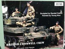 1:35 tanque británico Cromwell tripulación Guerra Mundial 2 (Segunda Guerra Mundial) 4 Figuras de Resina modelo kit