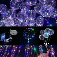 3 Packs 10 ft LED Light UP Balloons Party Balloon  Birthday Wedding Christmas