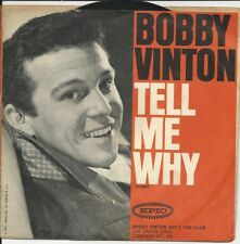 """1964 BOBBY VINTON 7"""" 45 & Picture Sleeve Tell Me Why / Remembering Ex/VG+/ VG+"""