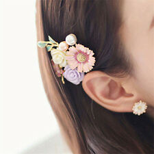 Womens Pretty Pearl Flower Bobby Pin Hairpin Hair Clips Barrette Accessories