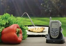 Wireless BBQ thermometer Kitchen Cooking Roasting Barbeque remote belt clip unit