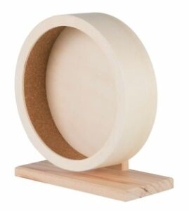 Trixie High Quality Wooden Exercise Wheel for Small Animals Hamster Rat Gerbil