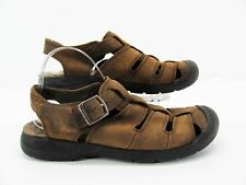 Keen Men Brown Leather Closed Toe Fisherman Sport Sandal Shoe 10M Pre Owned GH