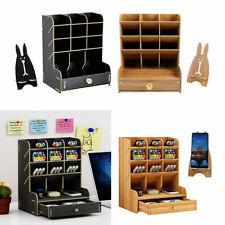 Schreibtisch Organizer Stiftehalter Holz Schreibtischbox Schubladen klein DE