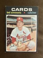 1971 Topps Ted Simmons RC #117 EX