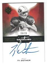 2015 TY DETMER 2013 UD ULTIMATE SIGNATURE LEGENDS ON CARD AUTO #15/15 EBAY 1/1?