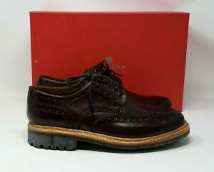 NEW MEN'S ARCHIE DARK BROWN BROGUE SHOES SIZE US 10.5 NWB CALF LEATHER