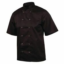 Whites Chefs Apparel A439-l Vegas Chef Jacket Short Sleeve Black
