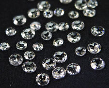 Rose cut Natural loose diamond VS1,2 White G color 2.50 MM  5 pcs parcel