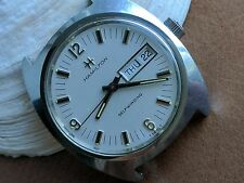 Vintage Hamilton Day-Date Watch w/Textured Dial,Warm Patina,Divers All SS Case