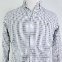 POLO RALPH LAUREN CUSTOM FIT LONG SLEEVE CHECK BUTTON DOWN SHIRT MENS SIZE S