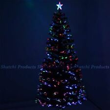 6ft 180cm Shatchi Fibre Optic Christmas Tree Various Effects Xmas Decoration