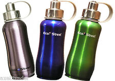 INSULATED 750ml x 2 (TWO) STAINLESS STEEL WATER BOTTLE BPA FREE DRINK BOTTLES