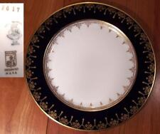 Pickard F617 Cobalt Blue and Gold Luncheon Plate Excellent Multiples Available