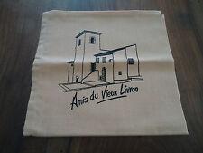 """SERVIETTES DE TABLE - """"Amis du Vieux Livron """" - dimensions 42* 42 cm"""