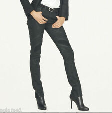 $445 NWT Ralph Lauren Black label Italy made  Washed black Motorcycle Jeans 28