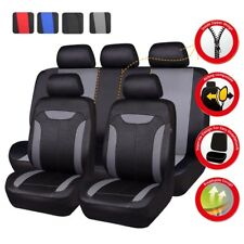 Universal Car Seat Covers Black Grey For Boy Split Rear Airbag Honda Holden Ford