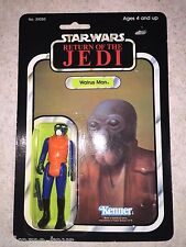 1983 Vintage Star Wars 77 Back PBP Made In Spain? WALRUS MAN Rare Figure MOC