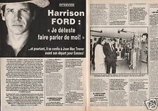 Coupure de presse Clipping 1985 Harrison Ford   (2 pages)