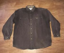 VTG Carhartt Plaid Lined Chore Barn Work Jacket Coat Men's XL