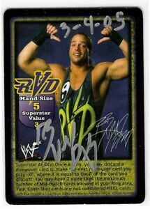 Rob Van Dam Signed 2002 WWF Raw Deal Mania Game Card WWE