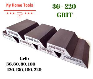 36-220 GRIT Abrasive Wet&Dry ANGLED Sanding Foam Sponge Block Fine Paint Stalco