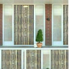 BEADED BAMBOO WOODEN DOOR CURTAIN SUMMER BLIND FLY CURTAIN SCREEN 90 X 200 CM UK