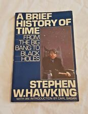 A Brief History of Time Stephen Hawking Softcover 1st Edition April 1988 RARE