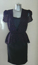 Fearne Cotton Printed Peplum Dress - Size 8 NEW TAGS