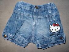Short en jeans bleu brodé HELLO KITTY Taille 4 ans super état ceinture réglable