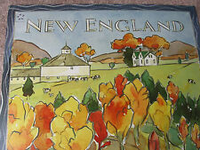 UNITED AIRLINES NEW ENGLAND TRAVEL POSTER 2004 FRITZ DUMVILLE ORIGINAL UAL ISSUE