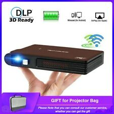 Pocket Mini 3D Projector WiFi Home Cinema Smart 3D Movie 1080P HDMI Camping USB