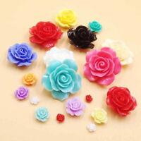 20pcs Cute Resin Rose Flower Flatback Appliques For Phone Wedding Craft~