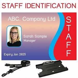 Photo ID Card | Custom made | Includes Lanyard and Card Holder  | Free P&P
