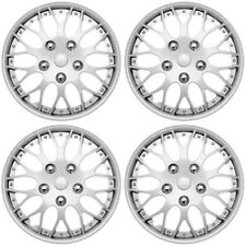 "4 pc Set Hub Cap ABS Silver 15"" Inch Rim Wheel Cover Replica Skin Covers Caps"