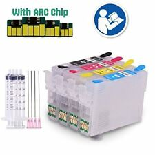 Full Set Refillable Ink Cartridges for Epson Stylus SX215 SX100 SX205 SX515W